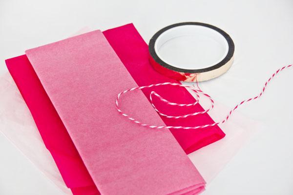 DIY Tissue Paper Tassels