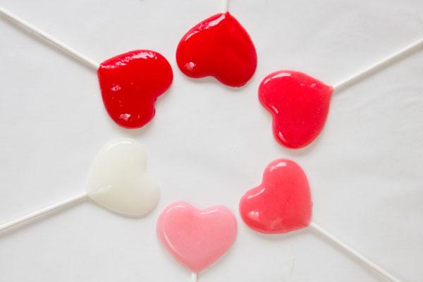 Easy DIY Heart Lollipops
