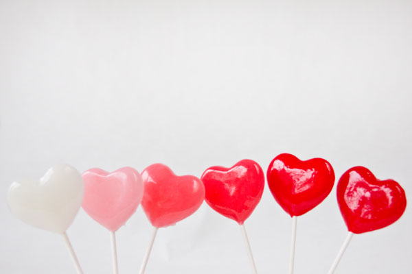 Ombre Heart Lollipops