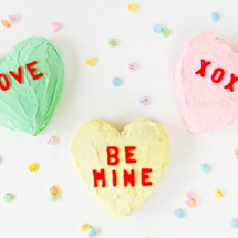DIY Conversation Heart Cakes
