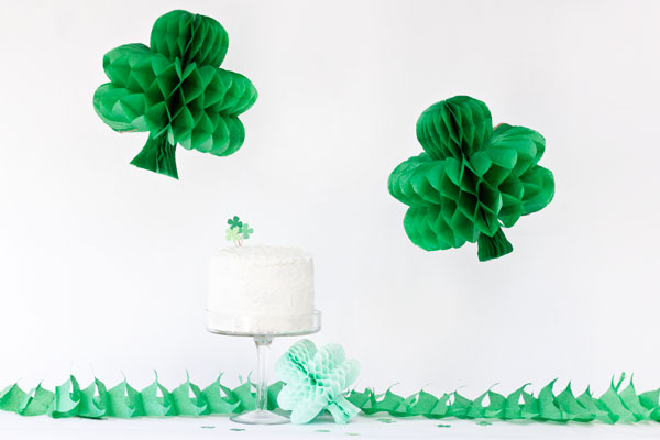 DIY Honeycomb Shamrocks
