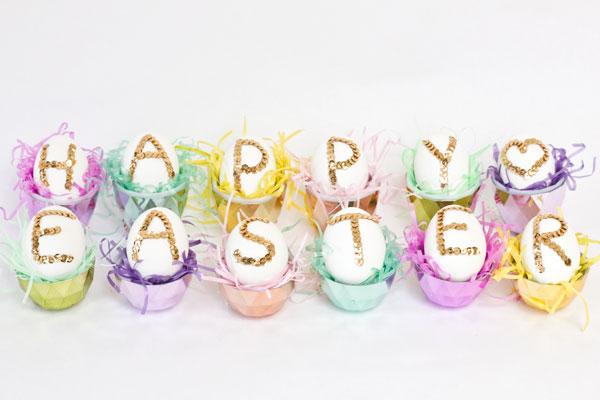 DIY Sequin Easter Egg Tutorial