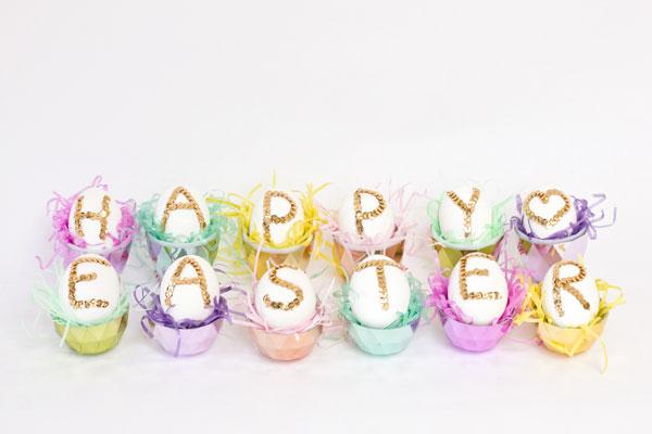 DIY Sequin Easter Eggs
