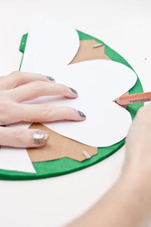 DIY St Patricks Day Shamrock Honeycomb Decor