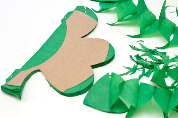 Honeycomb Shamrock DIY for St Patricks Day