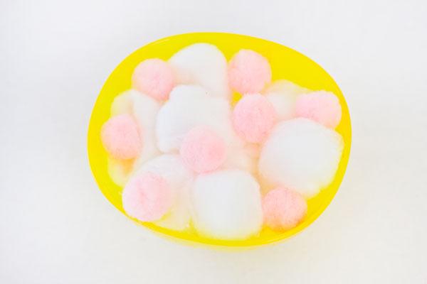 Pom Poms and Cotton Balls