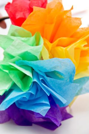 Rainbow Fascinator DIY