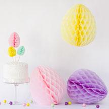 DIY Honeycomb Easter Eggs