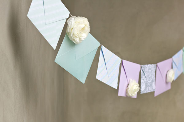 DIY Floral Envelope Garland