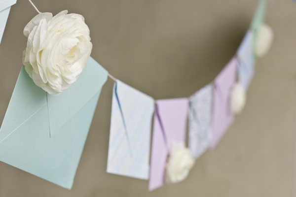DIY Fresh Flower Envelope Garland Tutorial