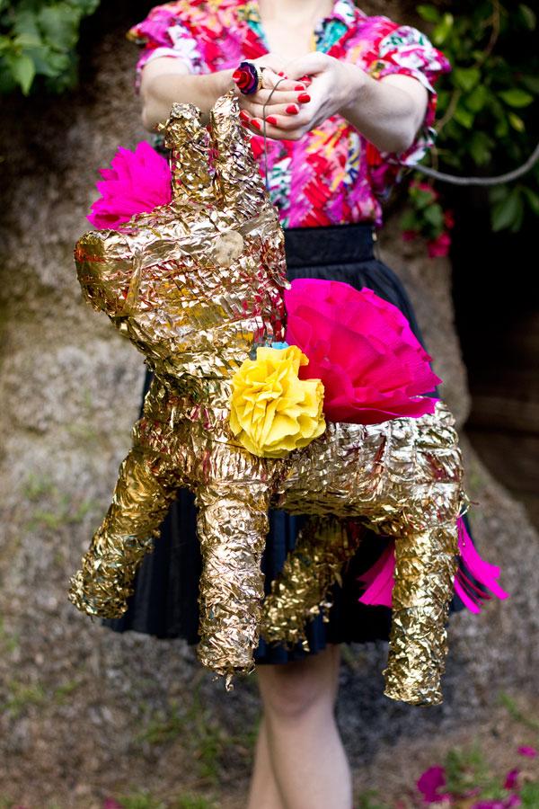 DIY Gilded Donkey Pinata