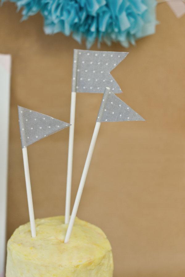 DIY Paper Napkin Cake Toppers