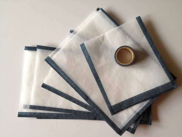 DIY Washi Tape Glassine Bags