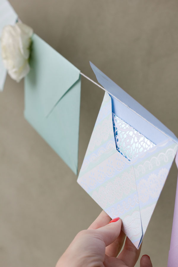 Envelope Garland for Mothers Day