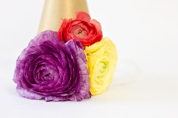 Ranunculus Party Hats DIY