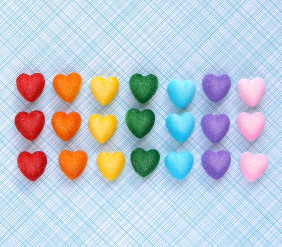 Sugar Hearts for Cake Decorating