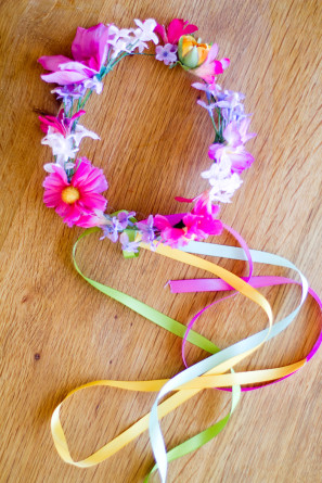 DIY Colorful Flower Crowns