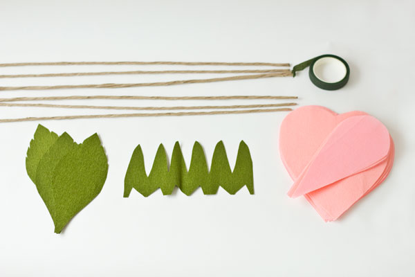 DIY Crepe Paper Roses Supplies