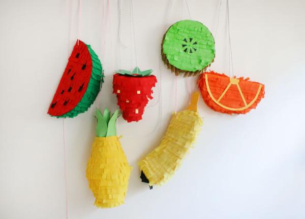 DIY Fruit Pinatas