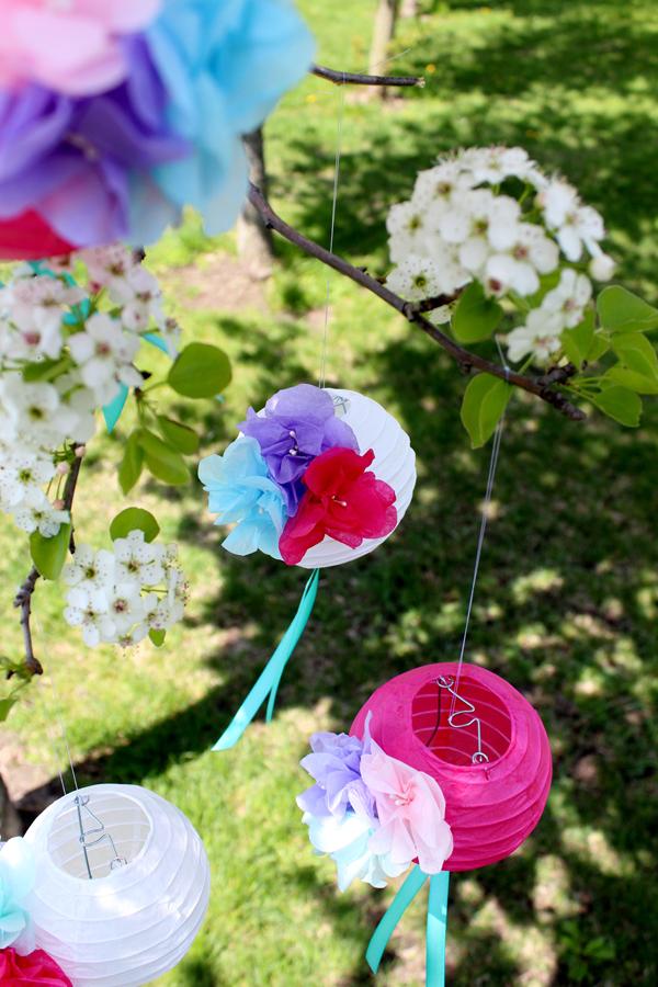 DIY Paper Flower Lanterns