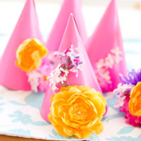 Colorful Flower-Power DIY 2nd Birthday Party
