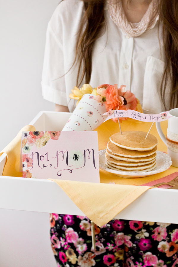 Free Mothers Day Breakfast in Bed Printables