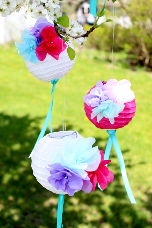 How To Make Paper Flower Lanterns