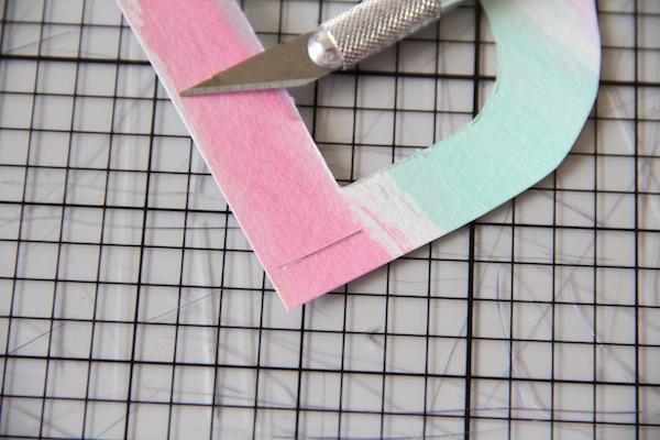 Monogram Straw Topper DIY