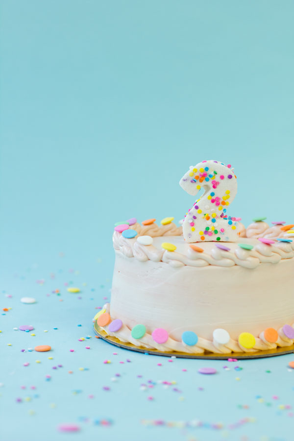 Confetti Marshmallow Number Cake Topper