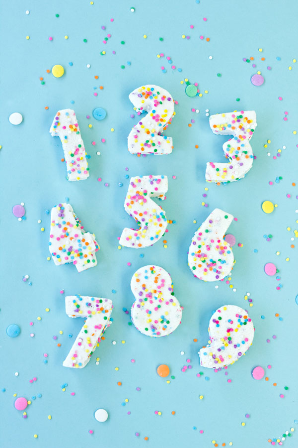 Confetti Marshmallow Numbers