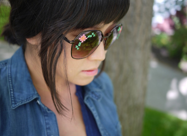 DIY Embroidered Sunglasses