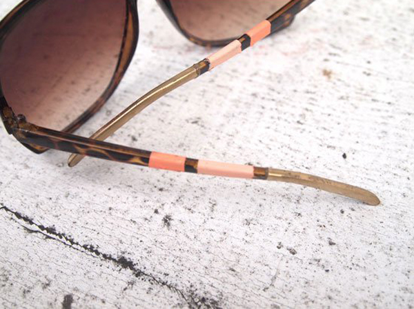 DIY Painted Stripe Sunglasses