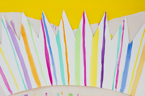 DIY Stripe Watercolor Party Crowns