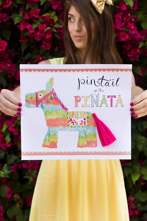 Pin the Tail on the Piñata (Free Printable!)