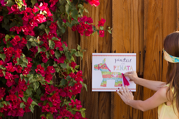 Pin the Tail on the Pinata Game