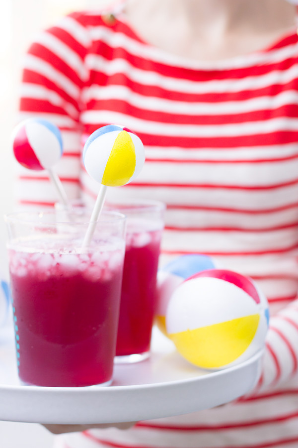 Beach Ball Drink Stirrers DIY