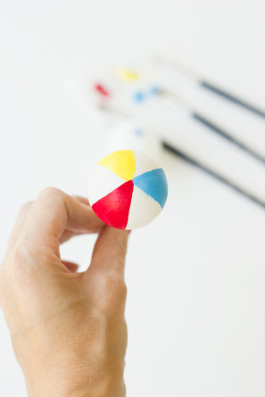 Beach Ball Drink Stirrers DIY Tutorial