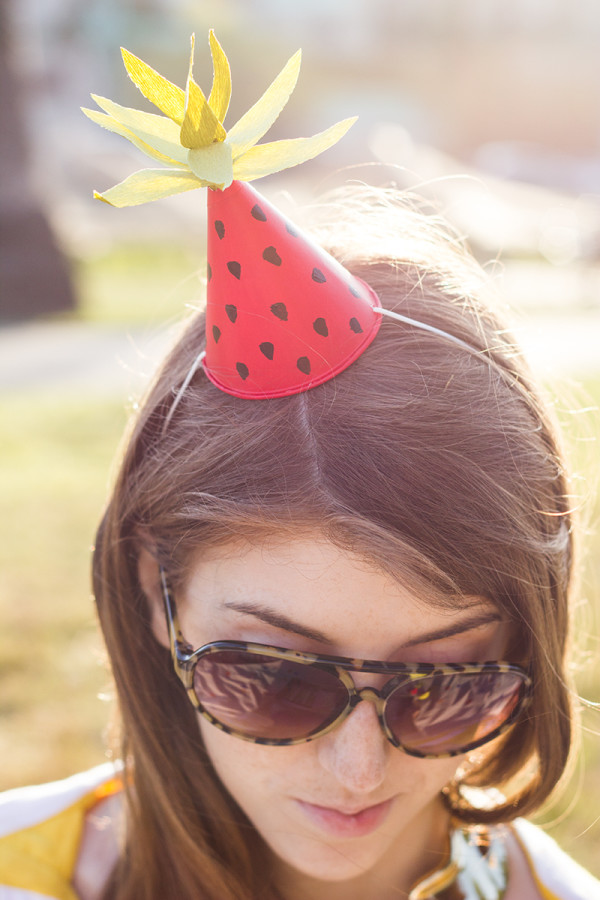 DIY Fruit-Inspired Mini Party Hats