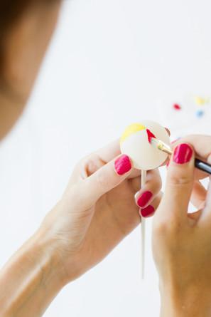 DIY Painted Beach Ball Drink Stirrers