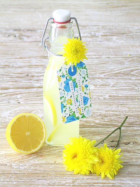 Free Printable Floral Drink Tags