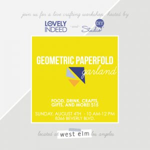 You're Invited! DIY Geometric Garland Event at West Elm