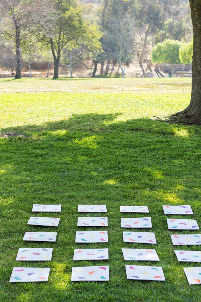 Giant DIY Lawn Matching Game