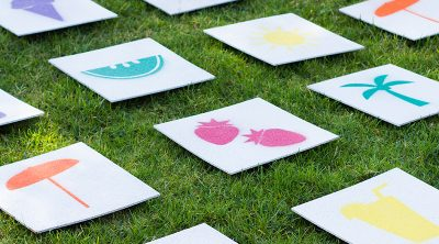 Giant Lawn Matching Game DIY and Free Printable Stencils