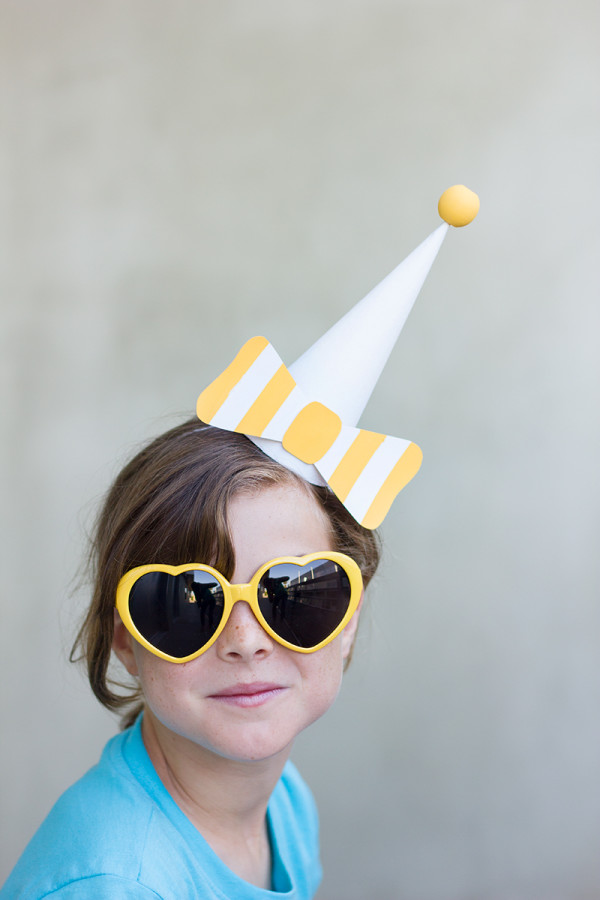 Paper Bow DIY Party Hats