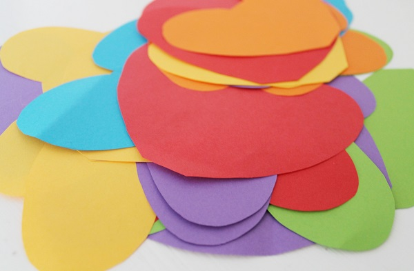 Rainbow Heart Garlands