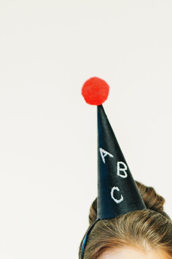 Chalkboard Party Hat DIY