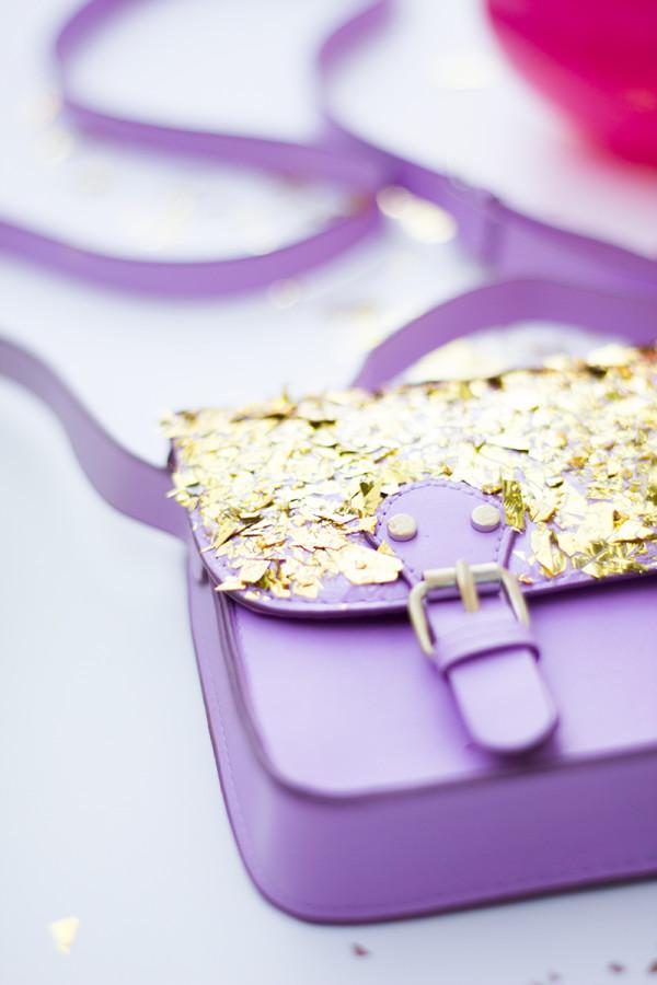 DIY Confetti Dipped Purse