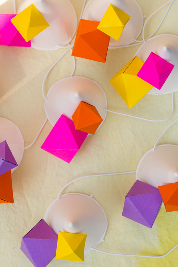 DIY Geometric Party Hats