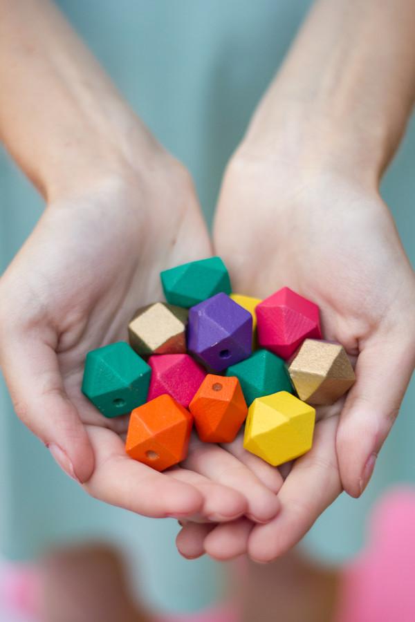 DIY Geometric Wood Beads