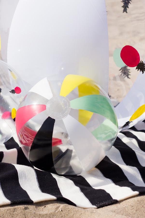 DIY Painted Stripe Beach Balls